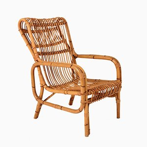 Vintage Italian Bamboo Armchair, 1960s
