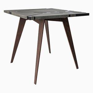 tavolo da esterni Filodifumo in pietra lavica ed acciaio di Riccardo Scibetta e Sonia Giambrone per MYOP