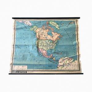 Cartina geografica del Nord America di Paravia, 1971