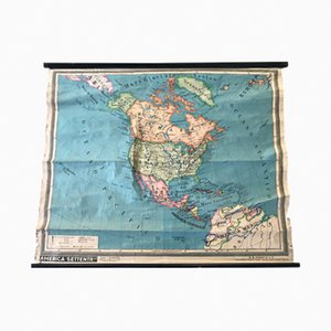 Nordamerika Landkarte von Paravia, 1971