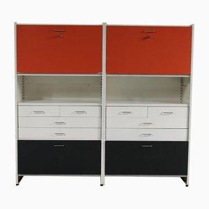 Mueble de pared de metal multicolor de André Cordemeyer para Gispen, años 60