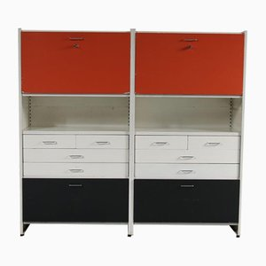 Multicolored Metal Wall Unit by André Cordemeyer for Gispen, 1960s