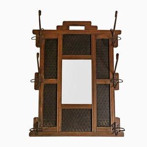 Appendiabiti vintage con specchio, anni '30