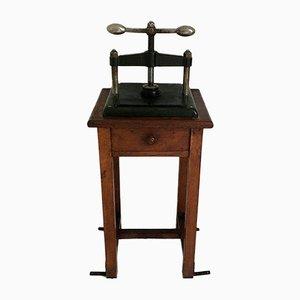 Antike Französische Buchpresse