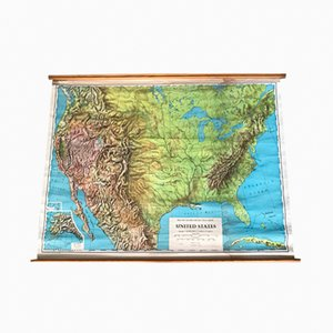 Mapa de los Estados Unidos de Philip and Son, 1968