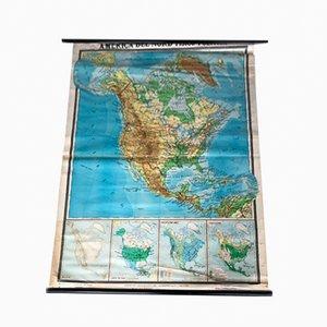 Cartina geografica del Nord America di De Agostini, 1971