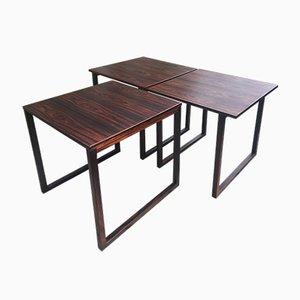 Tables Gigognes Cube par Kai Kristiansen pour Vildbjerg Mobelfabrik