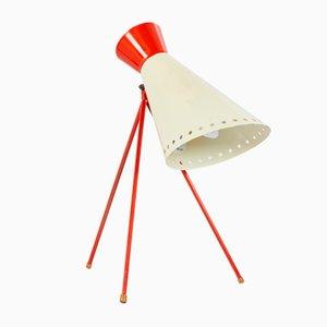 Lámpara de mesa con trípode de Josef Hurka para Napako, años 50