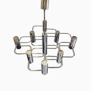 Lámpara de araña de Gaetano Sciolari para Boulanger, años 70