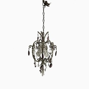 Vintage Beaded Crystal Chandelier