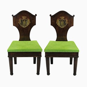 Antique Mahogany Hall Chairs, 1780s