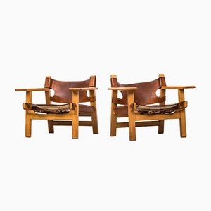 Mid-Century Model 226 Easy Chairs by Børge Mogensen for Fredericia Stolefabrik, Set of 2