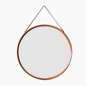 Espejo de pared circular de Uno & Östen Kristiansson para Luxus, años 50