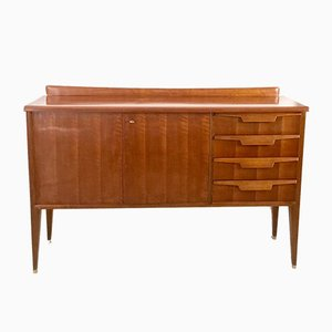Italian Walnut Sideboard with Maple Interior, 1950s