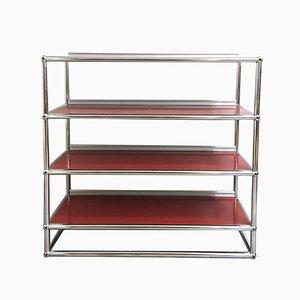 Vintage Red Shelves from USM Haller