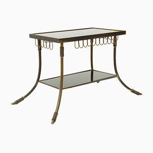 Italian Brass & Glass Coffee Table, 1950s
