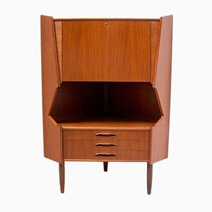 Danish Teak Corner Bar Cabinet from Omann Jun, 1960s