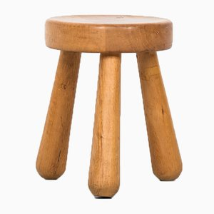 Vintage Stool by Ingvar Hildingsson, 1940s