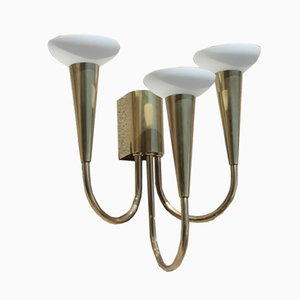 Brass Wall Sconce from Stilnovo, 1960s