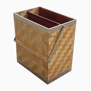 Revistero de bambú y latón, años 70