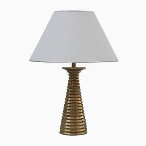 Lámpara de mesa de latón, años 70