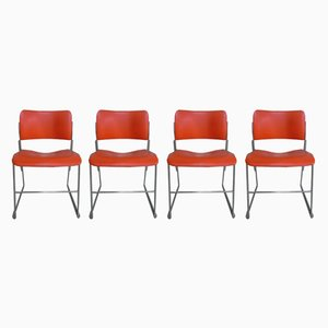 Chaises Empilables 40/4 Vintage par David Rowland pour General Fireproofing, Set de 4