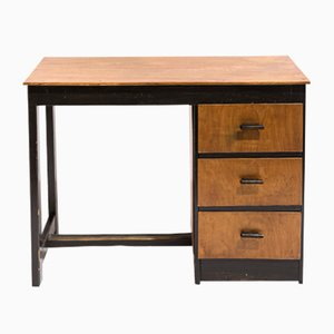 Dutch Modernist Plywood Desk, 1930s