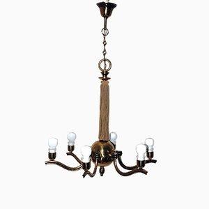 Lámpara de araña austriaca vintage de Hugo Gorge para Eduard Schmelz