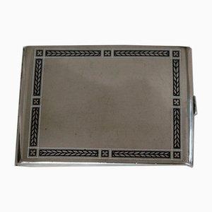 Österreichische Vintage Zigarettendose aus Silber