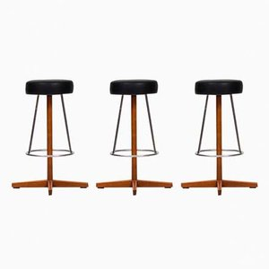 Danish Bar Stools from Dyrlund, 1960s, Set of 3