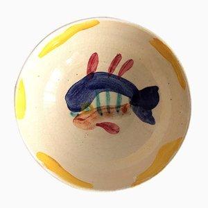 Dekorativer Fisch Teller von Pablo Picasso für Madoura, 1947