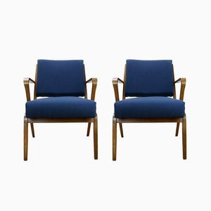 Mid-Century Armchairs by Selman Selmanagic for VEB Deutsche Werkstätten Hellerau, Set of 2