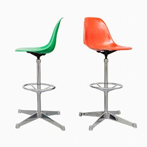 Vintage EC123 Bar Stools by Charles & Ray Eames for Vitra, Set of 2