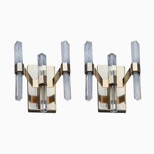 Sconces by Gaetano Sciolari, 1970s, Set of 2