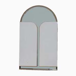 Italienischer Spiegel mit abschließbaren Türen von Iotti, 1970er
