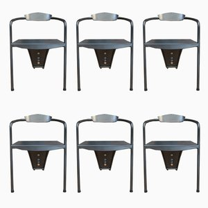 Metal Chairs, 1980s, Set of 6