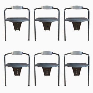 Metall Stühle, 1980er, 6er Set