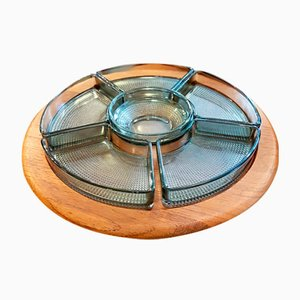 Danish Teak Revolving Tray from Digsmed, 1970s