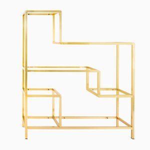 Brass Shelving Unit by Romeo Rega, 1970s