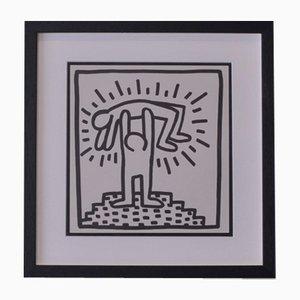Gerahmter amerikanischer Pop Art Siebdruck aus limitierter Edition von Keith Haring, 1982