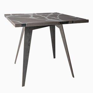 Mesa de jardín Filodifumo de acero y piedra volcánica de Riccardo Scibetta & Sonia Giambrone para MYOP
