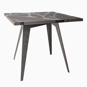 Table de Jardin Filodifumo en Pierre de Lave et Acier par Riccardo Scibetta & Sonia Giambrone pour MYOP