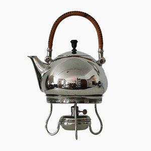 Bouilloire pour Thé et Eau avec Réchauffeur par Peter Behrens pour Berliner Metallwarenfabrik H.A. Jürst & Co., 1900s