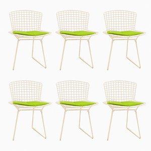 Chaises d'Appoint Modèle 420C Blanche par Harry Bertoia pour Knoll Inc. / Knoll International, Set de 6