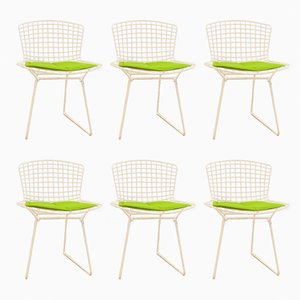 Sedie modello 420C bianche di Harry Bertoia per Knoll Inc. / Knoll International, set di 6