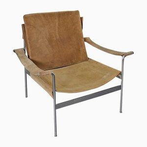 D99 Wildledersessel von Hans Könecke für Tecta, 1965