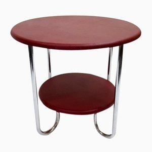 Tavolino da caffè placcato in cromo, anni '40