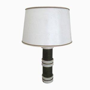 Emaillierte Messing Tischlampe von Tommaso Barbi, 1970er