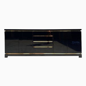 Lackiertes Messing Sideboard, 1970er