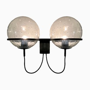 Vintage Wall Lamp with Glass Spheres by Franck Ligtelijn for Raak